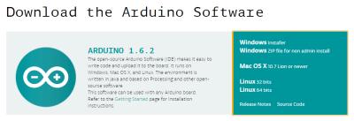 Téléchargement du logiciel arduino IDE