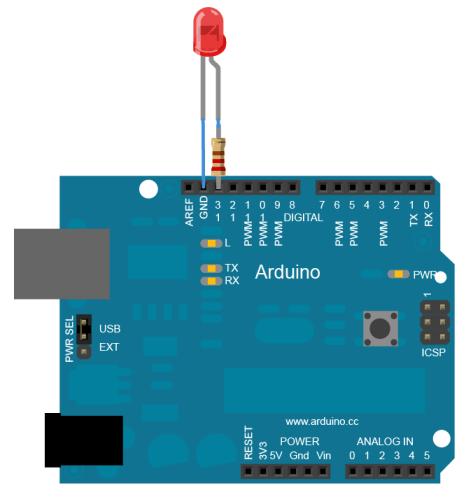 arduino resistance led