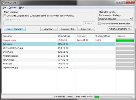 PNG gauntlet screenshot