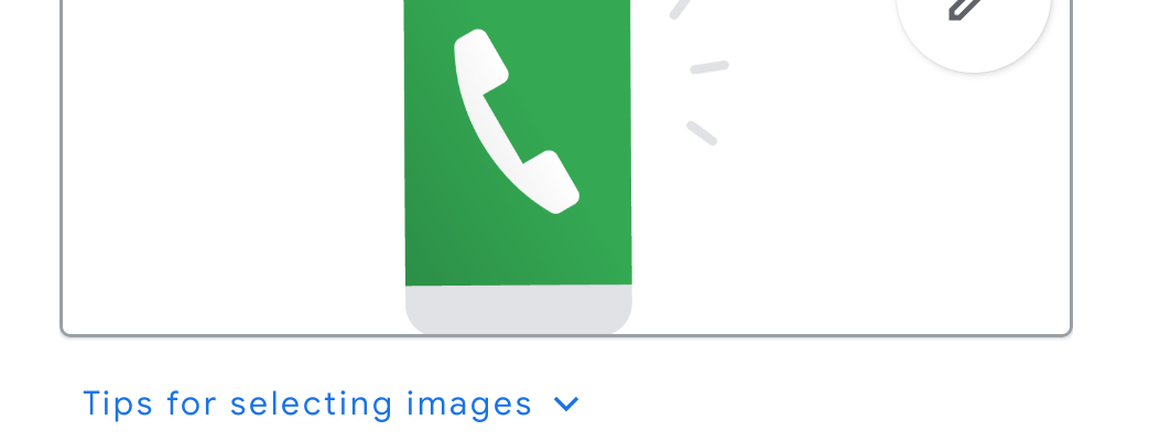 Screenshot of Action Block Edit to make phone call