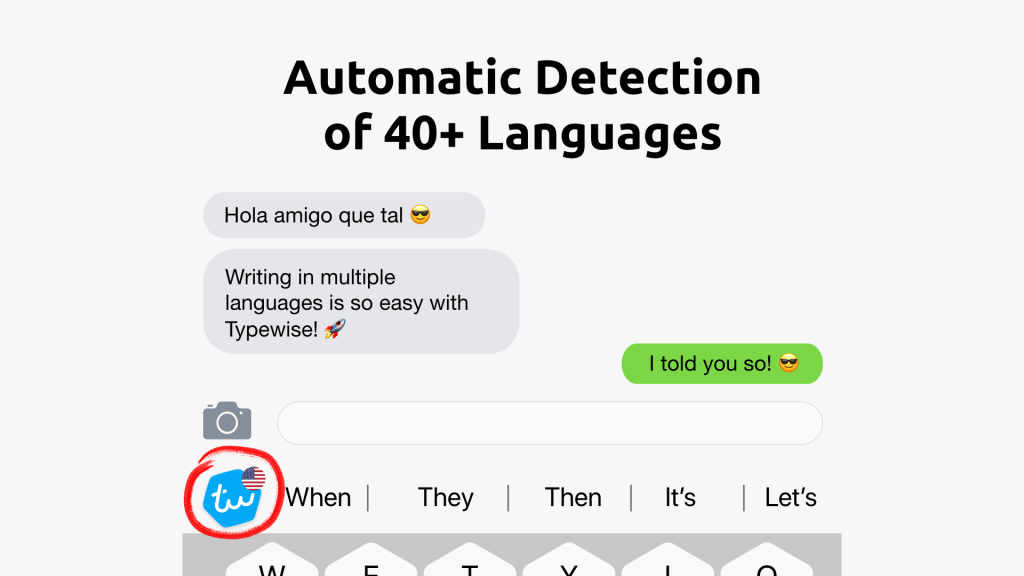 Typewise Auto Detection of 40 Languages