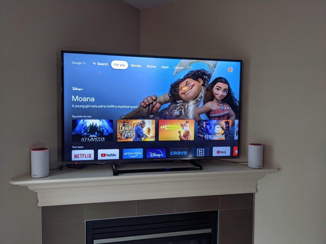 Chromecast with Google TV User Interface on TV
