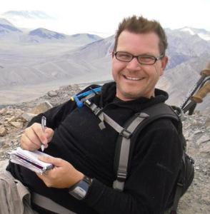 Mike Needham at the summit of Mt Borah