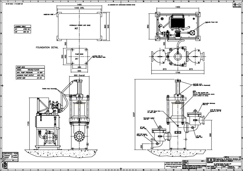 Ram Pump Diagram | EMS Ram Pump Model VRH350