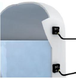 Example of discrete sensors used to detect tank level