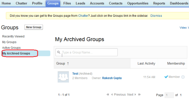 Archived Groups List