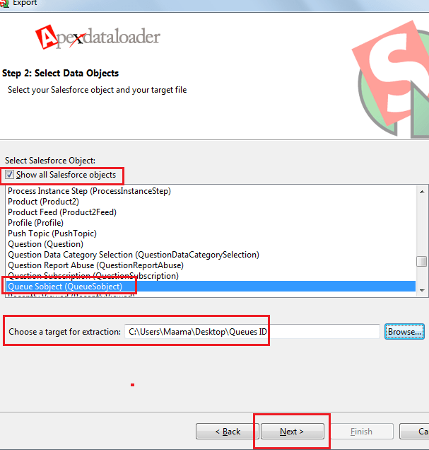 Extract Queues ID - Step 1