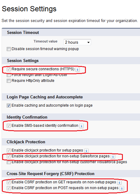 Fields on Session Settings no longer editable