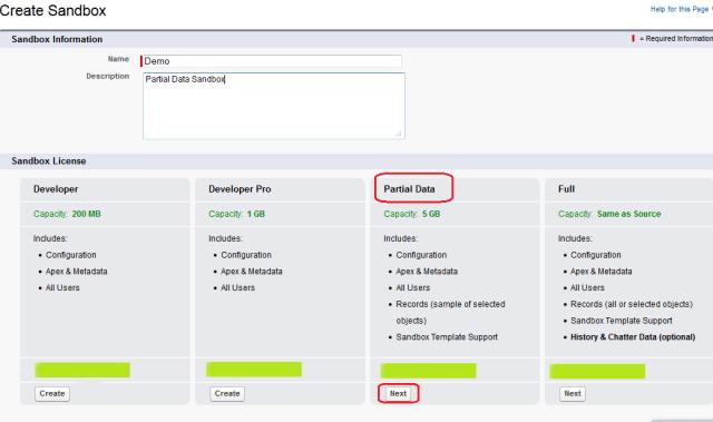 Partial Data Sandbox Creation - Step 2