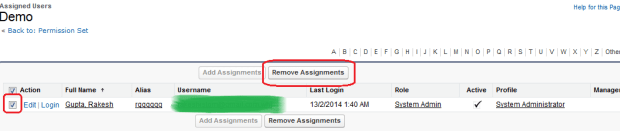 Remove Assignments