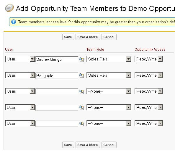 Add Opportunity Team Members - Step 2
