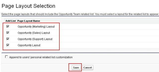 Add Opportunity Team related list on Opportunity Page Layout