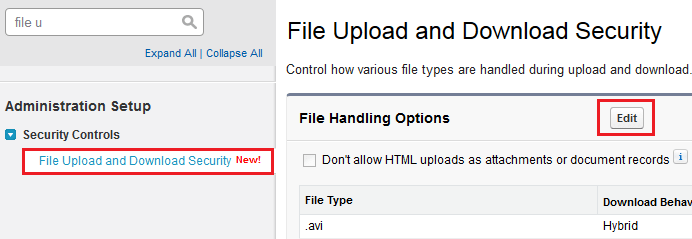 File Upload and Download Security Settings