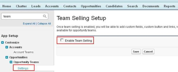 Enable Team Selling