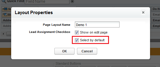 Select lead assignment check-box by default