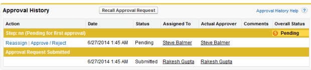 Record submitted for approval