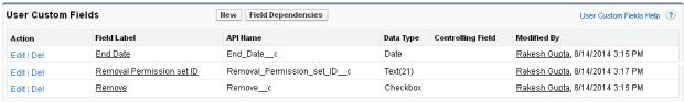 Custom Fields on User object
