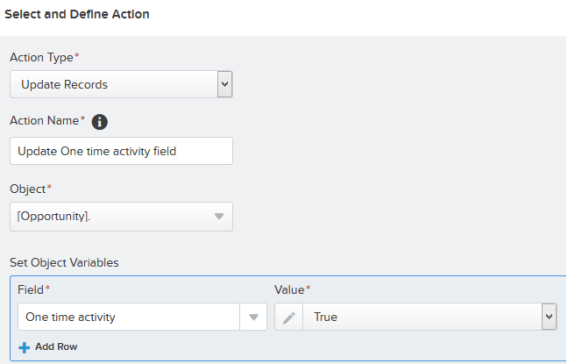 Add action - Update Records