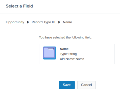 Select Record type field