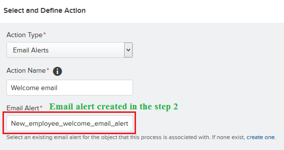 Add action – Email Alert