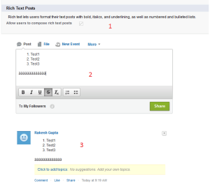 Allow users to compose rich text posts