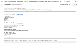 Enhancements in Flow error email message (Beta)