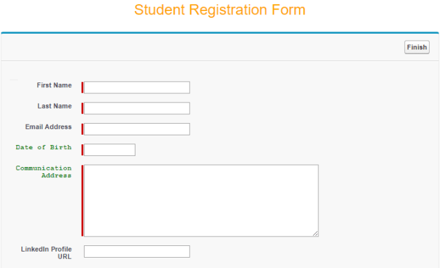 Student Registraion Form - with Font-family