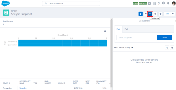 Collaborate with Others on Report and Dashboard