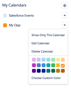 Calendars with Different Colors