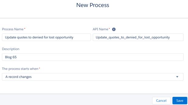 Define Process Properties