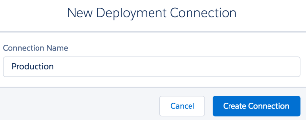 Deployment connection name