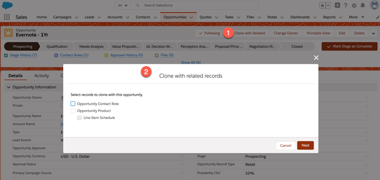 Clone with related records in Salesforce Spring 20 Release