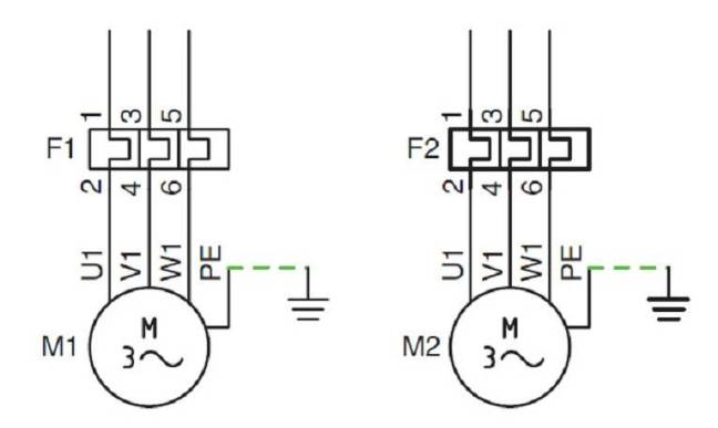 Relé térmico circuito maniobra.