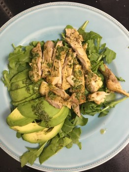 Chicken with Chimichurri Sauce and Avocado