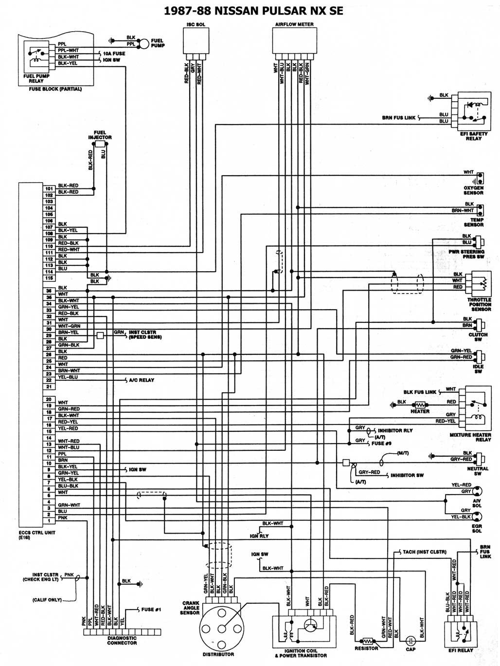 Diagrama Sistema Electrico Nissan Tsuru