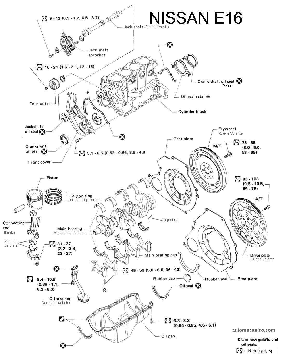 Partes De Un Motor De Auto Nissan