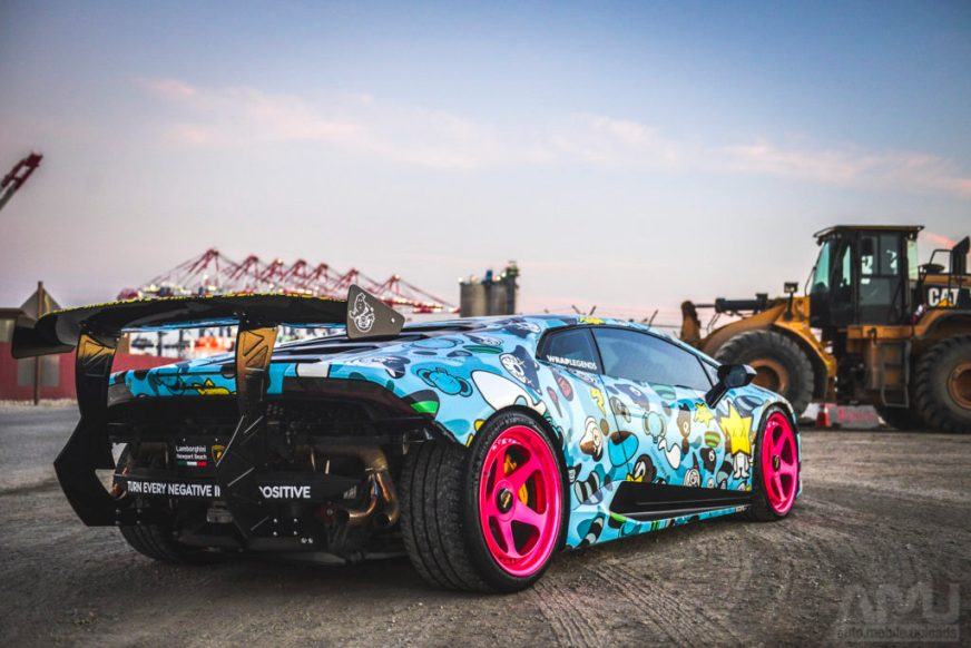 Lamborghini Huracan With Crazy Mods Covered in BAPE/Baby ...