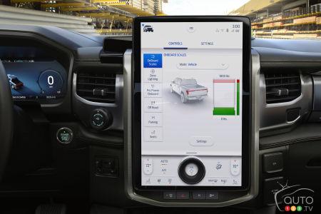 2022 Ford F-150 Lightning, multimdia screen