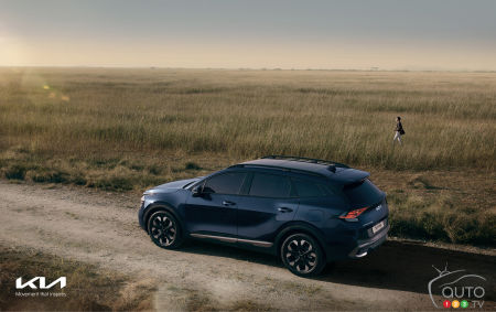 2023 Kia Sportage, from above