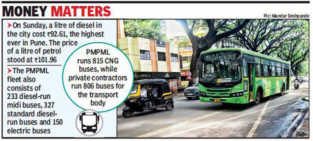 PMPML gears up to convert midi bus fleet from diesel-run to CNG