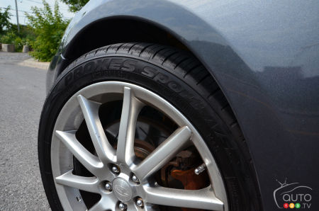 The Toyo Proxes Sport A/S tire, sidewall