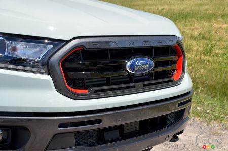 2021 Ford Ranger Tremor, front grille