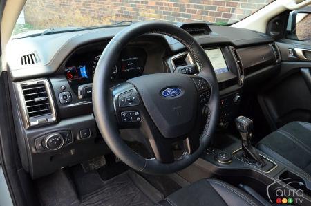 2021 Ford Ranger Tremor, interior