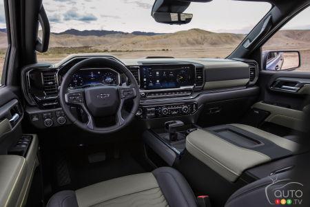 Chevrolet Silverado ZR2 2022, intérieur