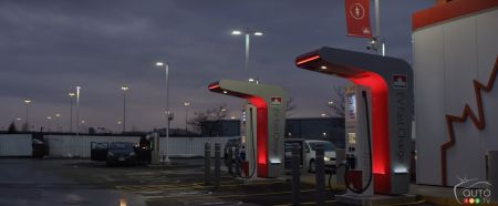 A Petro-Canada rapid-charge station