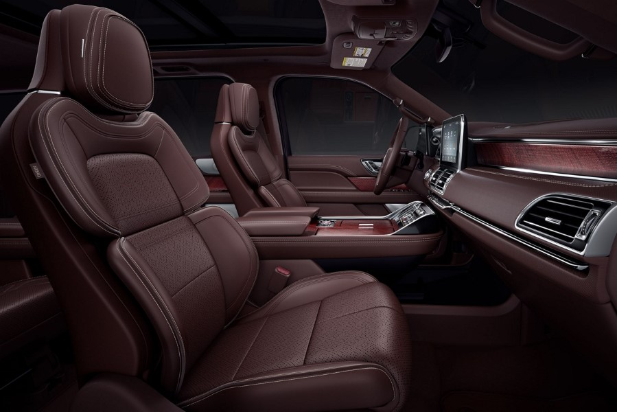 2021 Lincoln Navigator Redesign Interior Pictures with brown Leather Interior Custom