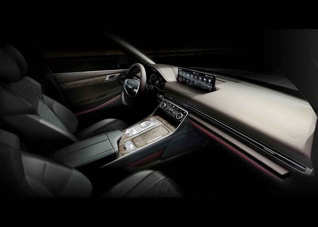 2021 Genesis GV80 Interior Of Luxury Compact SUV