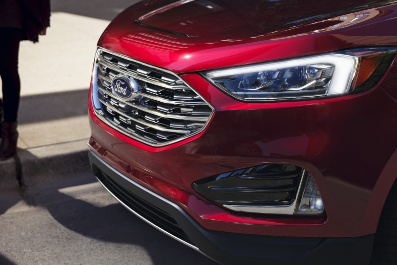 2021 Ford Edge Front Angle Titanium New Headlight