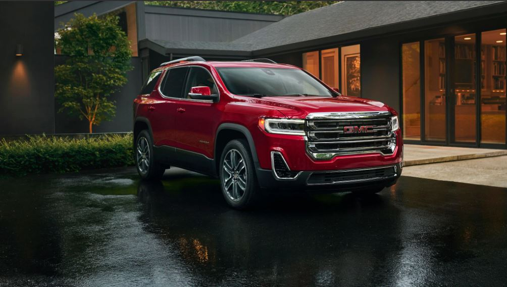 2021 GMC Acadia Red Colors
