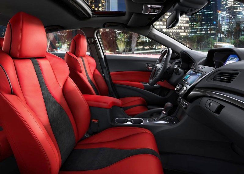 2021 Acura ILX Interior Type S Version with red Color Leather